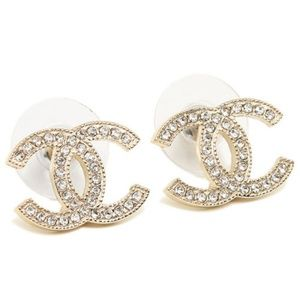 *NEW* AUTHENTIC CHANEL CC LOGO CRYSTAL EARRINGS
